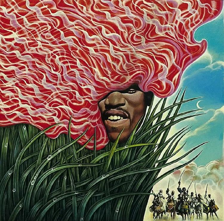 Jimi Hendrix by Mati Klarwein