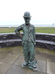 Statue of Charlie Chaplin in Waterville, which was one of his favourite holiday spots.