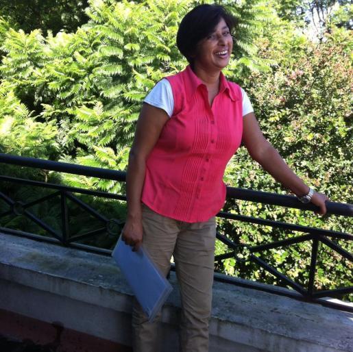 Asmita, back as Leela Sharma, a civilian.