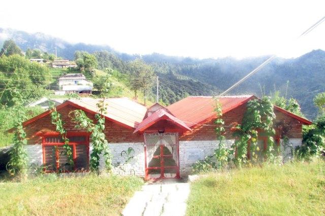 Nangi's community center hall.