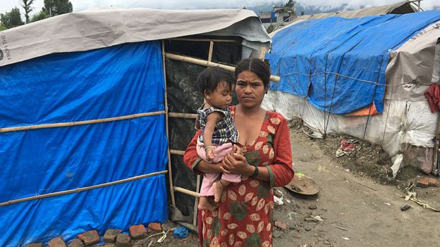 Hundreds of thousands of Nepalis are still living in temporary shelters dotted across the country