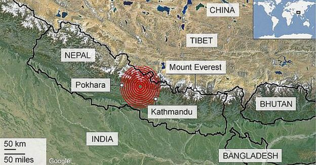 The April 2015 earthquake in Nepal killed nearly 9,000 people and injured more than 21,000. Aftershocks were felt in May.