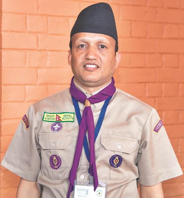 Lok Bahadur Bhandari, National Secretary, Nepal Scouts