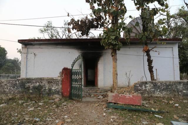A community radio station run by Tharu people in Tikapur was burned down last September [Prabhat Jha/Al Jazeera]