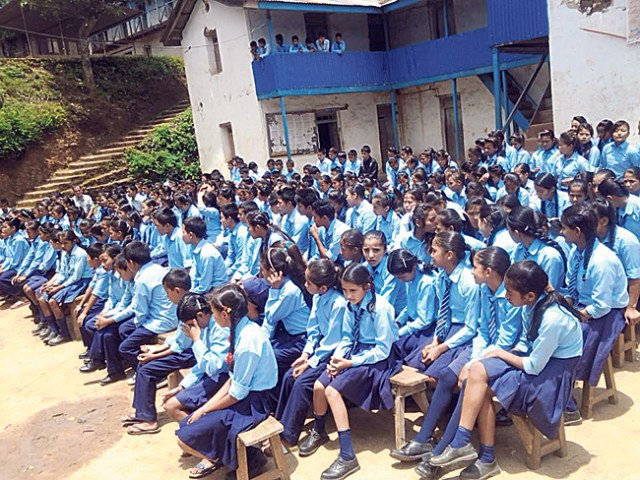 Student participate in an extra curricular activity. ( Adarsha Higher Secondary School )