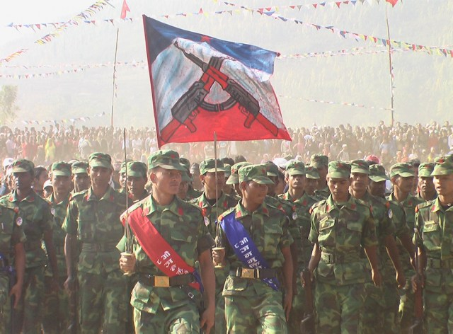 PLA fighters in Hattikhor, Nawalparasi district [2009 file photo: Nabin Bibhas]