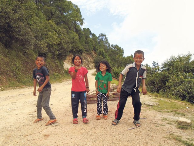 Children in a joyous mood as they play on a Saturday. (Kamala)