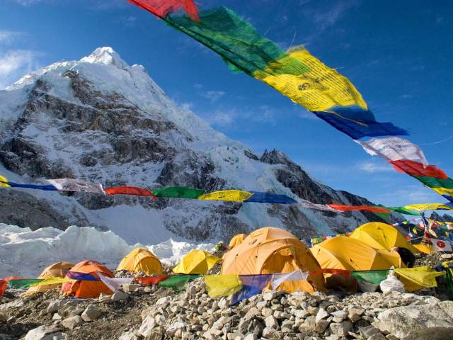 Tent city at Everest Base Camp © Danita Delimont / Getty Images