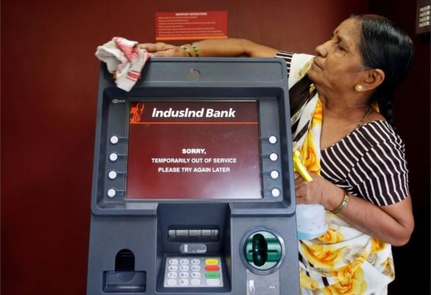 Cash machines have run out of money in many cities...