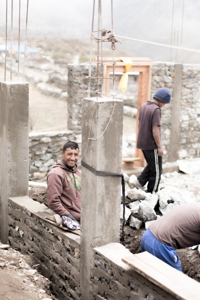 Tashi is part of a team building a new guesthouse to help encourage tourists back to the region