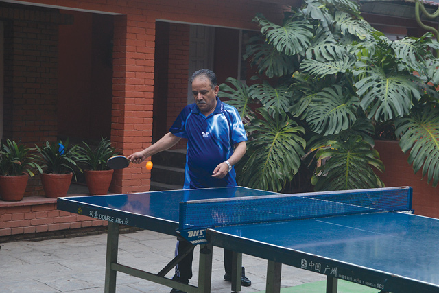 During his second tenure as Prime Minister, Pushpa Kamal Dahal wakes up every day at 5:30 AM and plays table tennis before meeting people in Baluwatar.