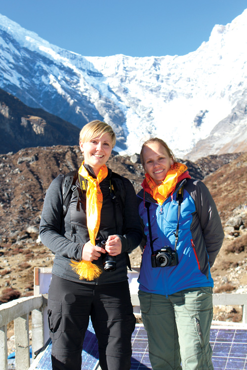 Australian researchers Hayley Saul and Emma Waterton visited Langtang this week for the first time since the earthquake.