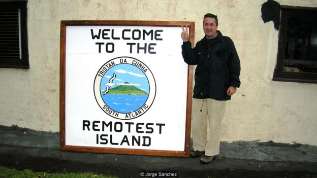 In 2007, he visited the remote island of Tristan da Cunha (Credit: Jorge Sanchez)