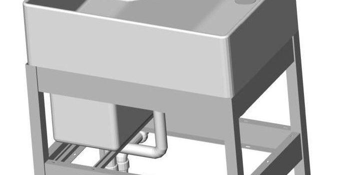 Untergestell für KERAMAG®Gipsfangbecken