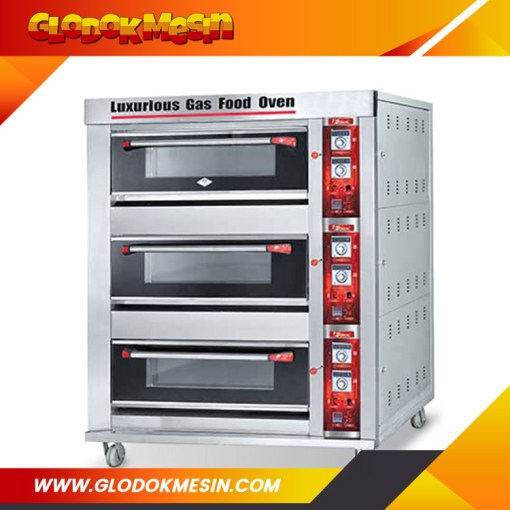 Oven Gas Roti FOMAC 3 Deck