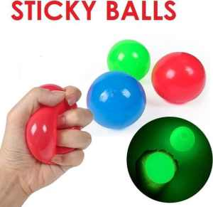 plafondballen glow in the dark ceiling balls sticky balls
