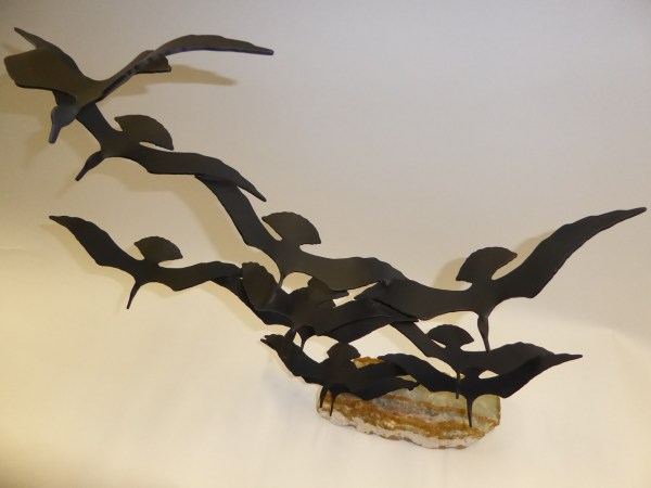 """flock Of Seagulls"" Bijan Kinetic Sculpture Metal And"