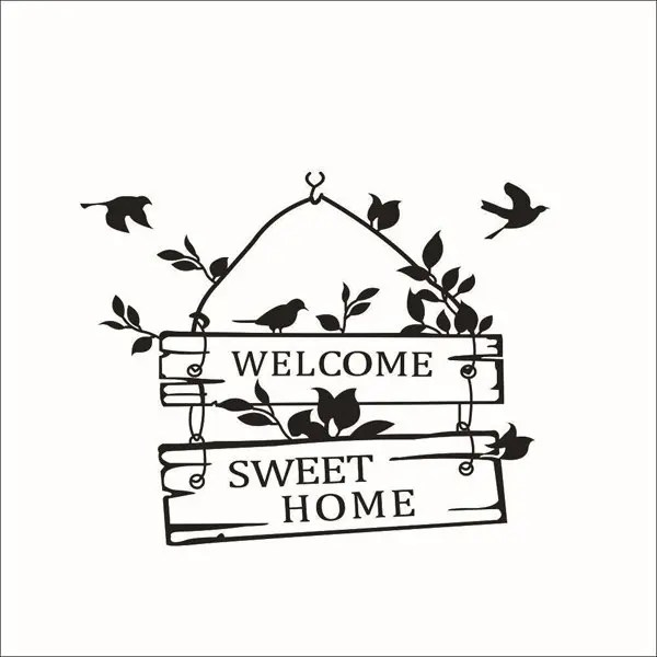 2018 New Welcome Sweet Home Wall Sticker For Living Room