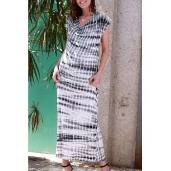 Tie Dye Relaxed Fit Maxi Beach Dress