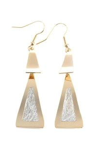 2018 Pair of Stylish Triangle Earrings For Women GOLDEN In ...