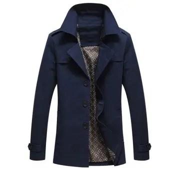 Turn Down Collar Long Sleeve Coat
