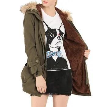 Fur Embellished Pocket Design Coat