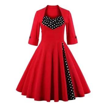 Bowknot Insert Flare Dress