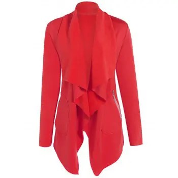 Asymmetric Open Front Coat