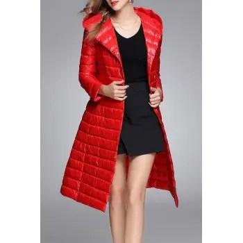 Longline Hooded Down Coat