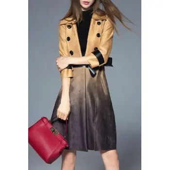 Ombre Skirted Wrap Coat