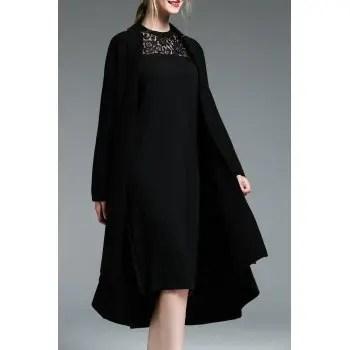 Wool Blend Asymmetric Swing Coat