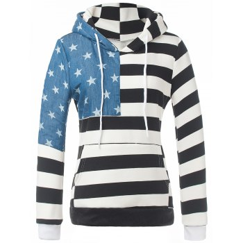 Star Striped Fleece Hoodie
