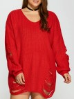 Distressed Plus Size Sweaters