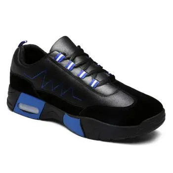 Suede Panels Color Block Sneakers