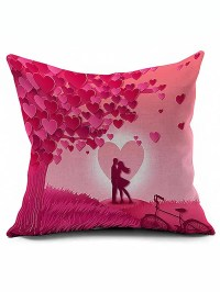 2018 Love Couples Design Valentine Pillow Case PINK In ...
