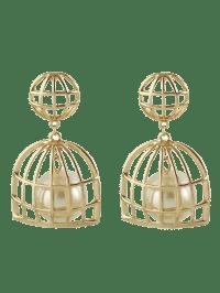 2018 Faux Pearl Cage Drop Earrings GOLDEN In Earrings ...