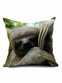 Sloth Square Cushion Cover Throw Pillow Case, GRAY in ...