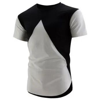 Colorblock High Low Hem T Shirt