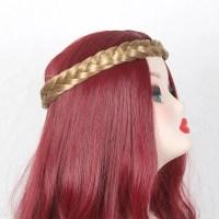 2017 Two Plait Braided Headband Hair Piece BROWN/GOLDEN In ...