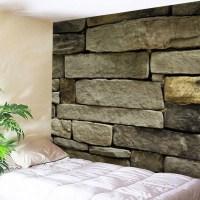 2018 Stone Brick Wall Print Tapestry Wall Hanging Art ...