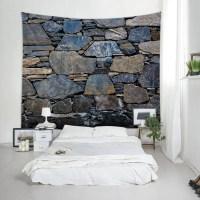 2018 Wall Hanging Art Stone Wall Print Tapestry MIDNIGHT W ...