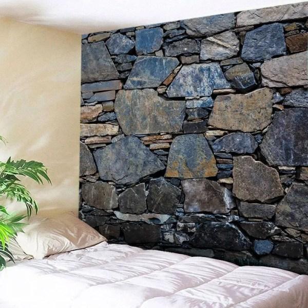 Wall Hanging Art Stone Print Tapestry Midnight