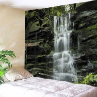2018 Stone Falls Print Tapestry Wall Hanging Art COLORMIX ...
