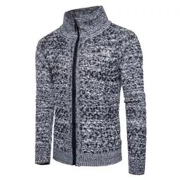 Turtle Neck Zip Up Sweater