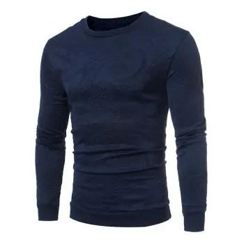 Paisley Jacquard Crew Neck Sweatshirt