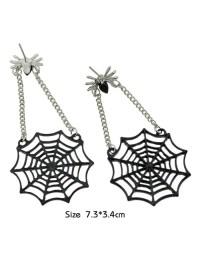 2018 Spider Web Stud Drop Earrings BLACK In Earrings ...