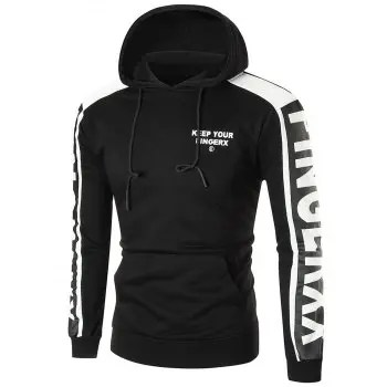 Sports Color Block Graphic Hoodie