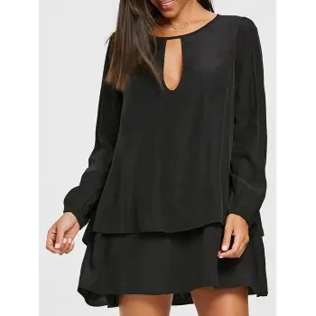 Long Sleeve Layered Dress