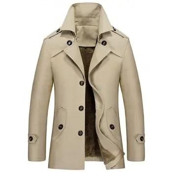 Lapel Single Breasted Slim Jacket