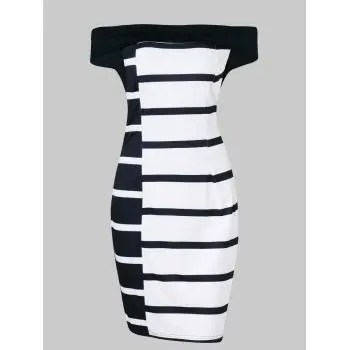 Piano Keys Bodycon Dress